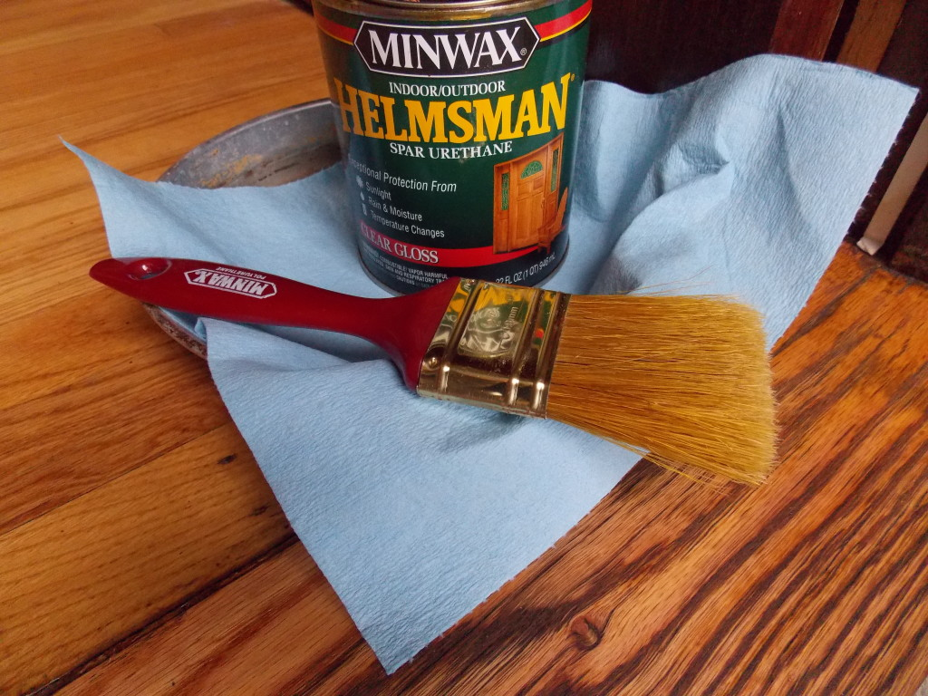 I Let The Stain Dry For Eight Hours, Then Brushed On The First Of Three  Coats Of Minwax® Helmsman Spar Urethane, Which Is Designed To Protect Wood  Exposed ...