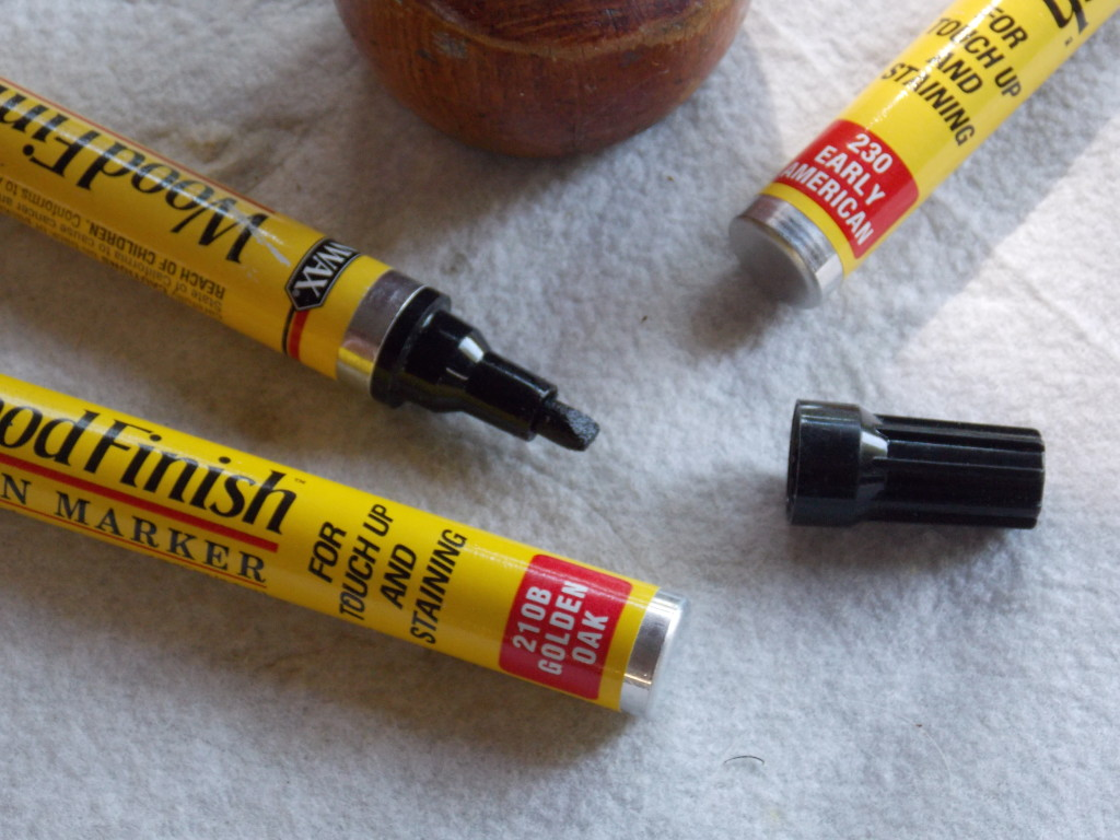 Nice Instead Of A Can Of Stain, I Reach For One Of The Minwax® Stain Markers:  Actual Stain In A Felt Tipped Dispenser!