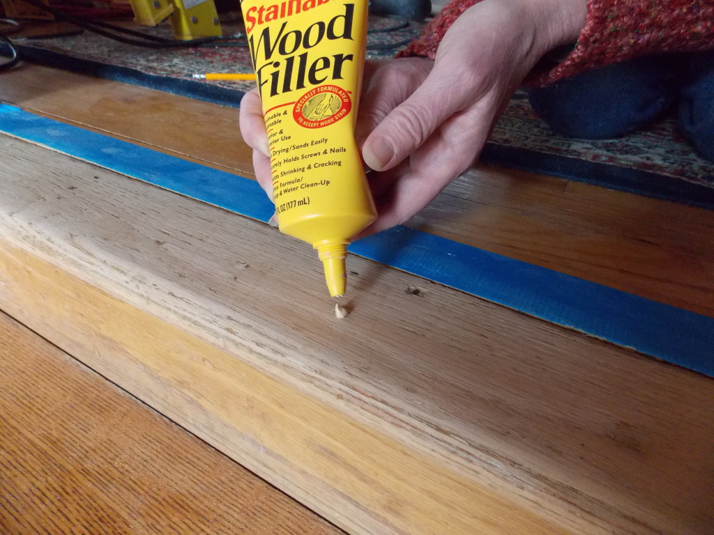 One step at a time minwax blog for Wood floor hole filler
