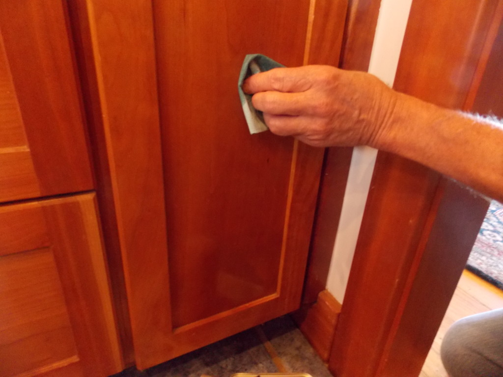 leave a permanent protective finish on any worn dried out cabinets