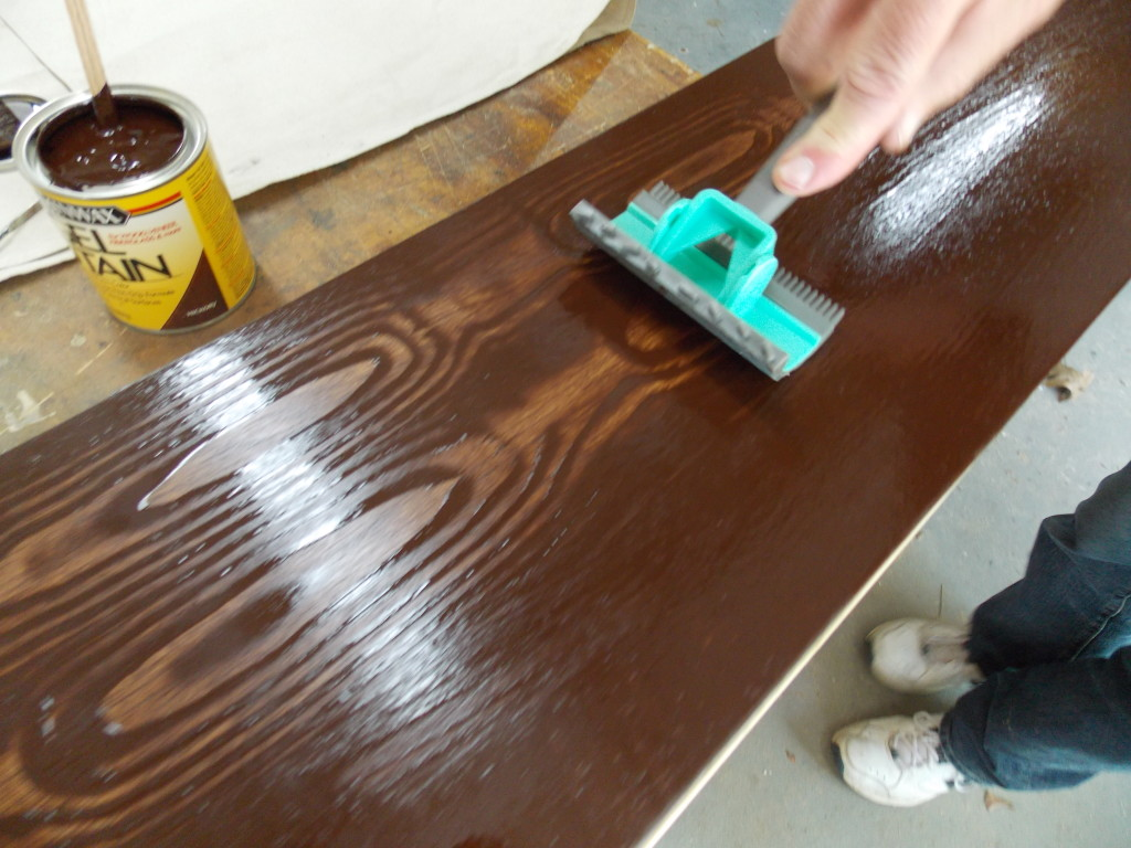 how to clean gel stain off brush