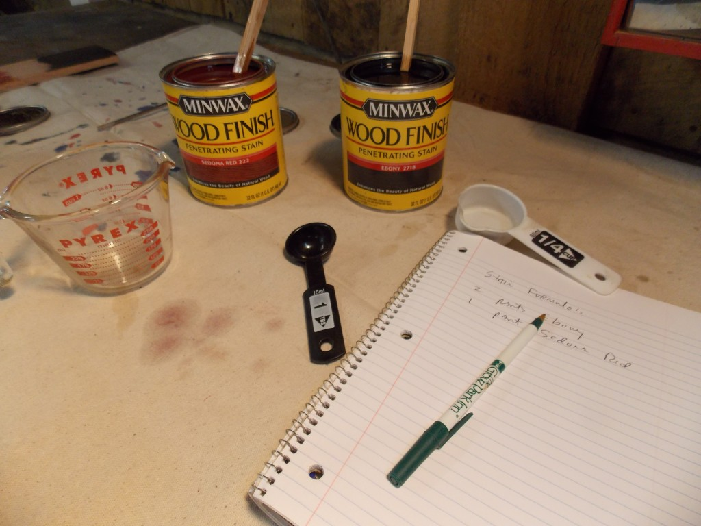 Custom mixing stains minwax blog i had already done some custom mixing so i knew the first rule is the most important measure measure measure one time many years ago i got in a hurry nvjuhfo Images