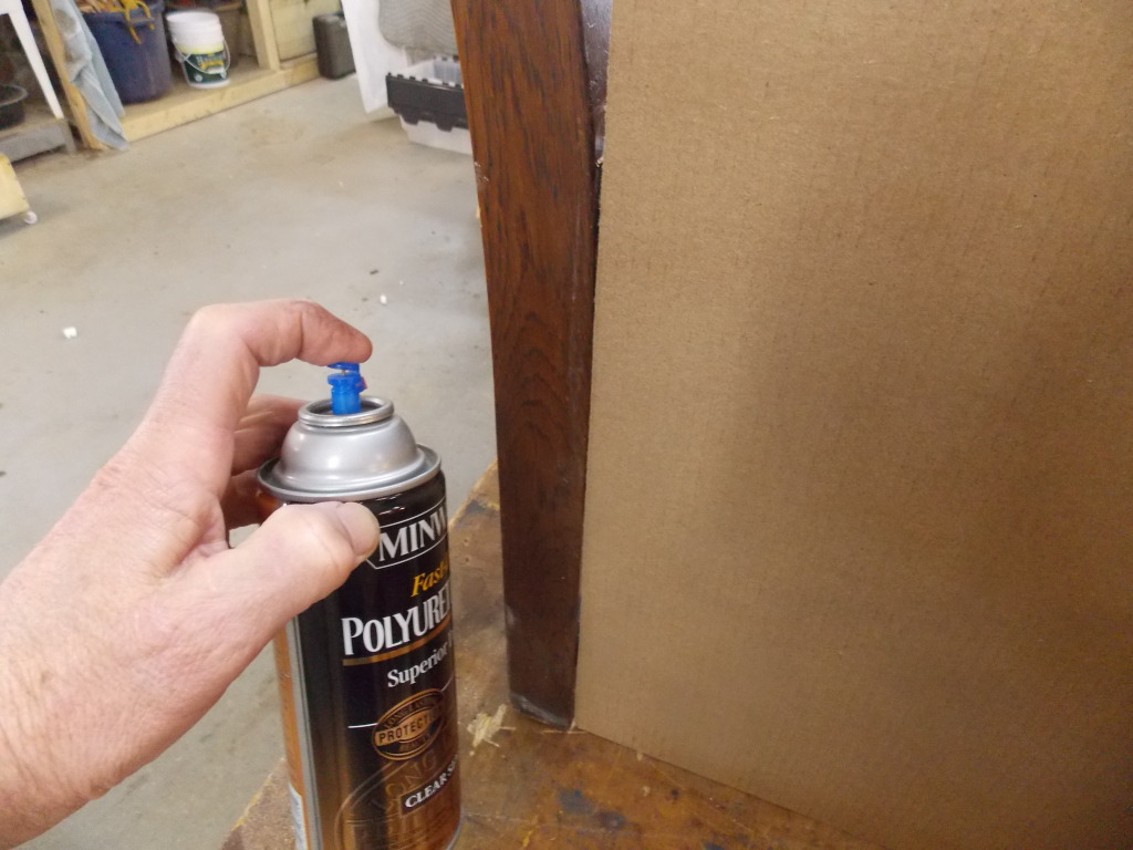 Minwax super fast drying polyurethane - I Love The Aerosol Versions Of Minwax Fast Drying Polyurethane And Minwax Polyshades For Touch Ups Of Worn Spots On Older Furniture But Sometimes I