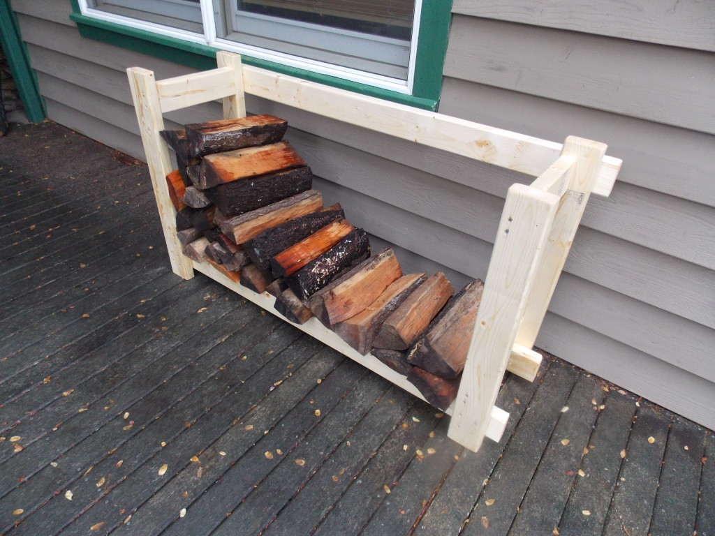 Now that my firewood is off the deck and onto my new wood rack, all ...