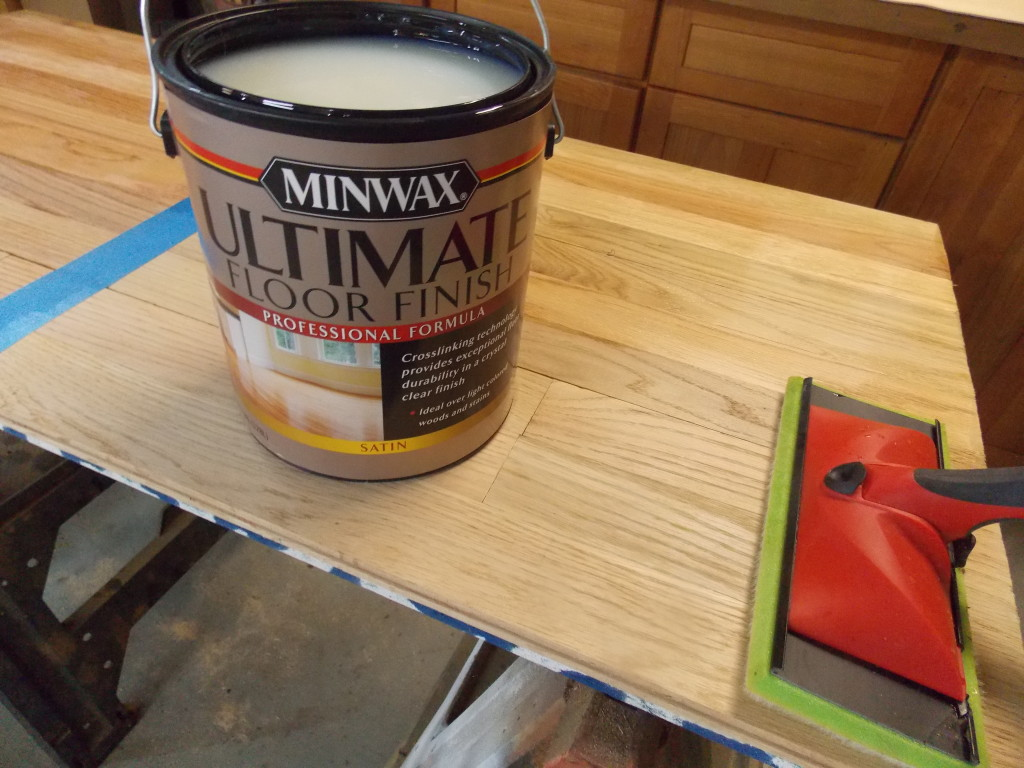Minwax super fast drying polyurethane - A New Synthetic Applicator Pad Spread My First Coat Of Ultimate Over Both Test Sections Very Smoothly As Promised The First Coat Dried In Just Two Hours
