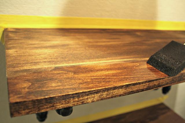 Shelf with Polyurethane Applied