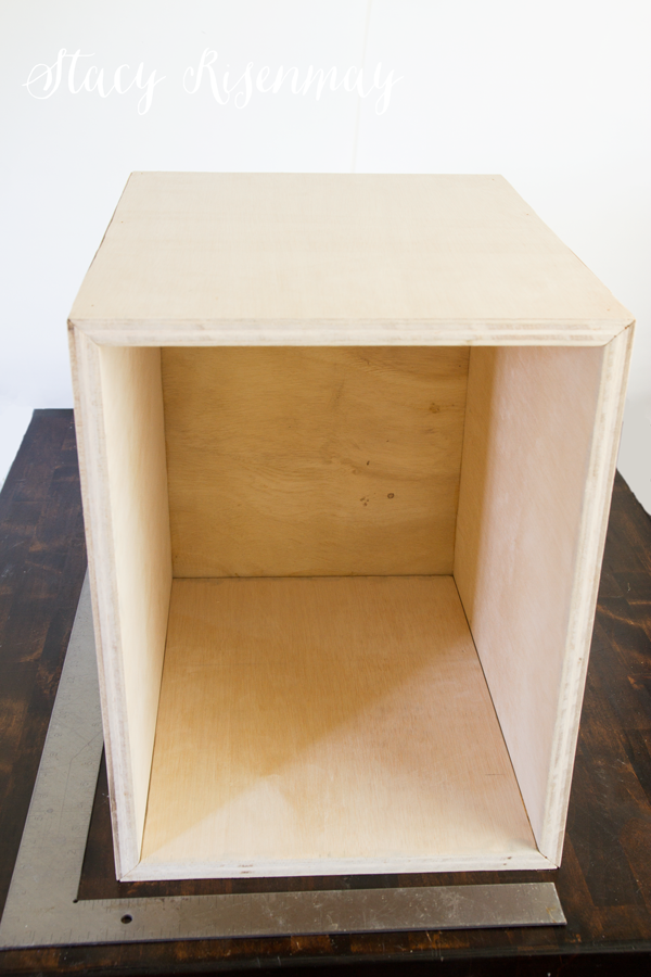 wooden box with carpenter square