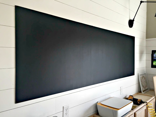 Finished painted chalkboard