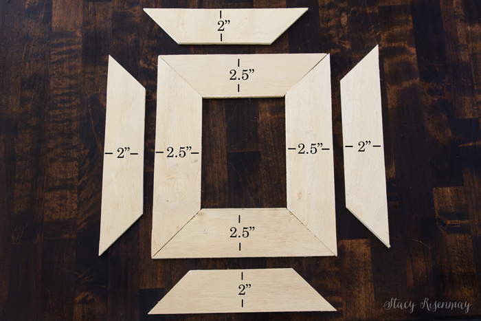 frame pieces with dimensions