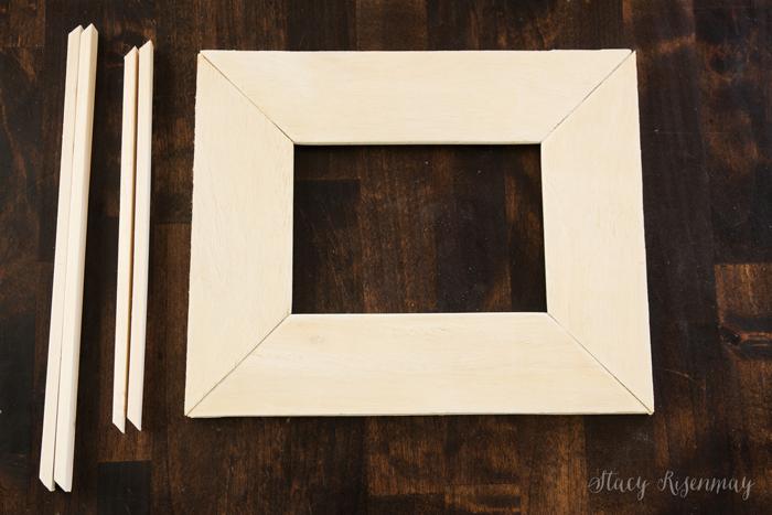 glued frame and trim