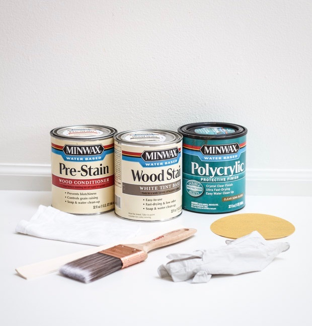 Tools and Minwax products used for the project