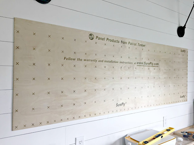 Plywood used for the chalkboard
