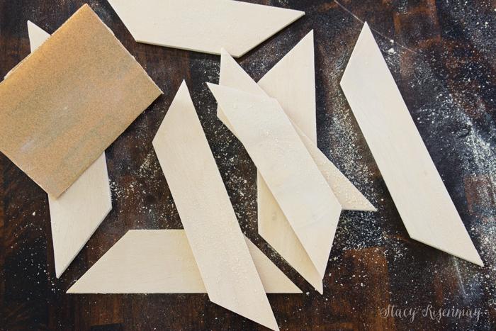 sanded frame pieces