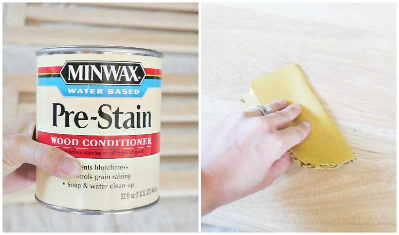 Wood conditioner and sanding