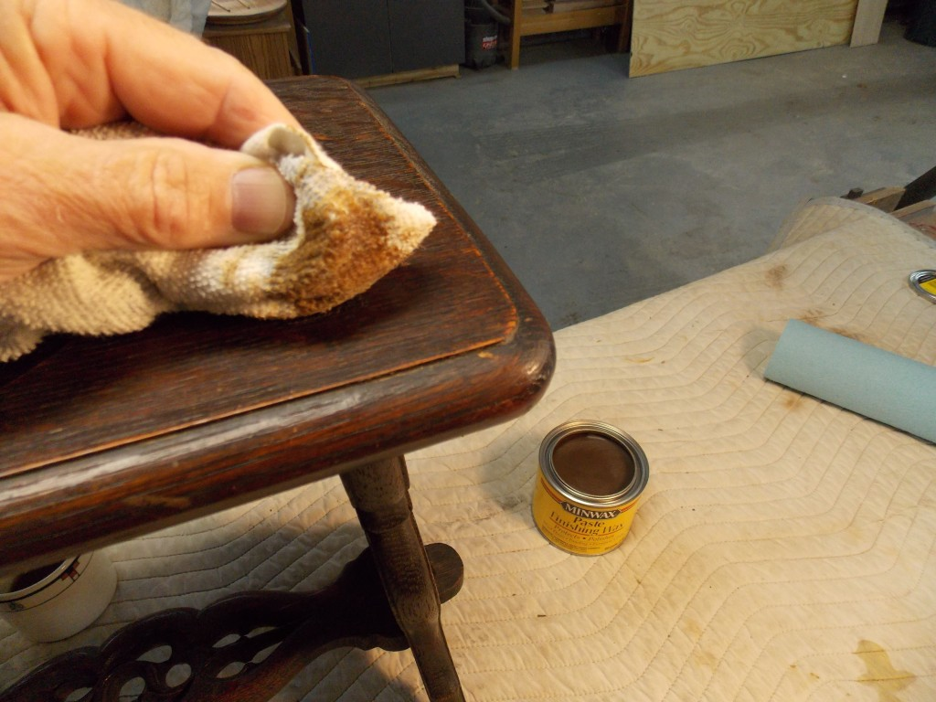 All I Needed To Apply The Wax Was A Soft Cloth, Which I Used To Work The Wax  Into The Pores Of The Wood. The Dark Stain In The Wax Also Repaired ...