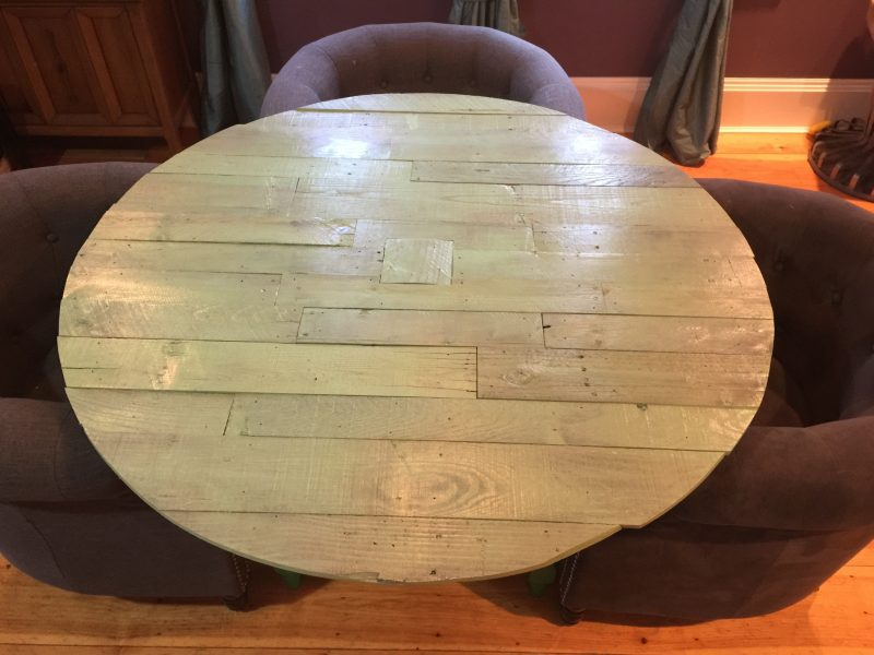 Finished pallet table