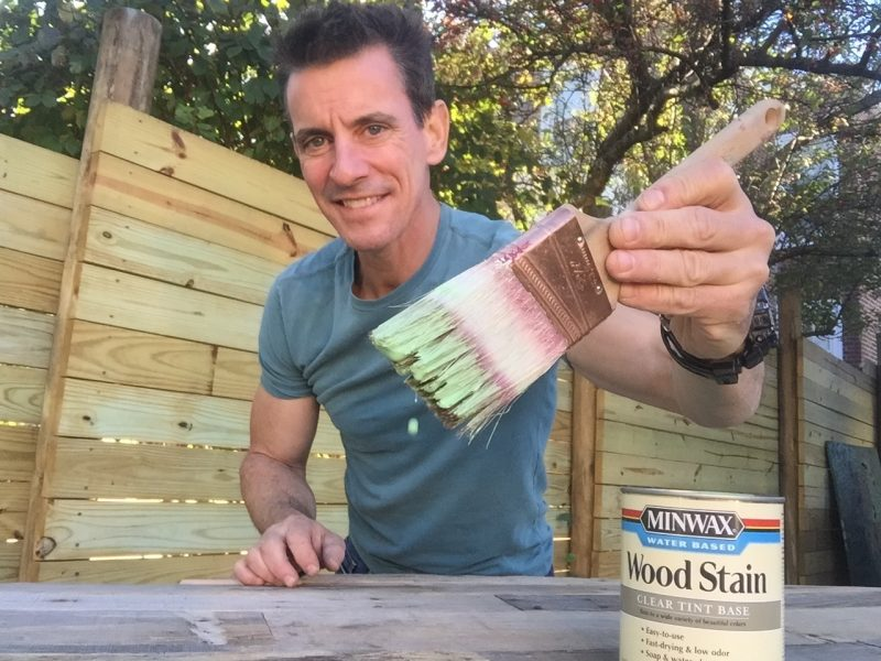 Staining with Minwax in Antique Jade