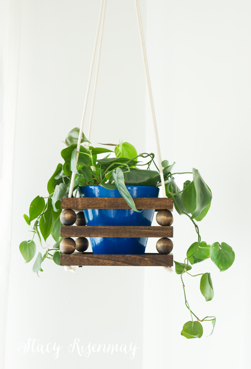 Wood Bead Planter
