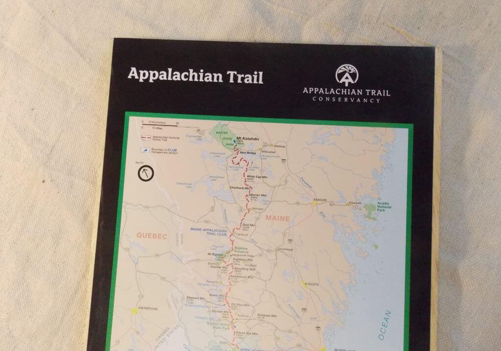Appalachian trail map print ready for wood framing