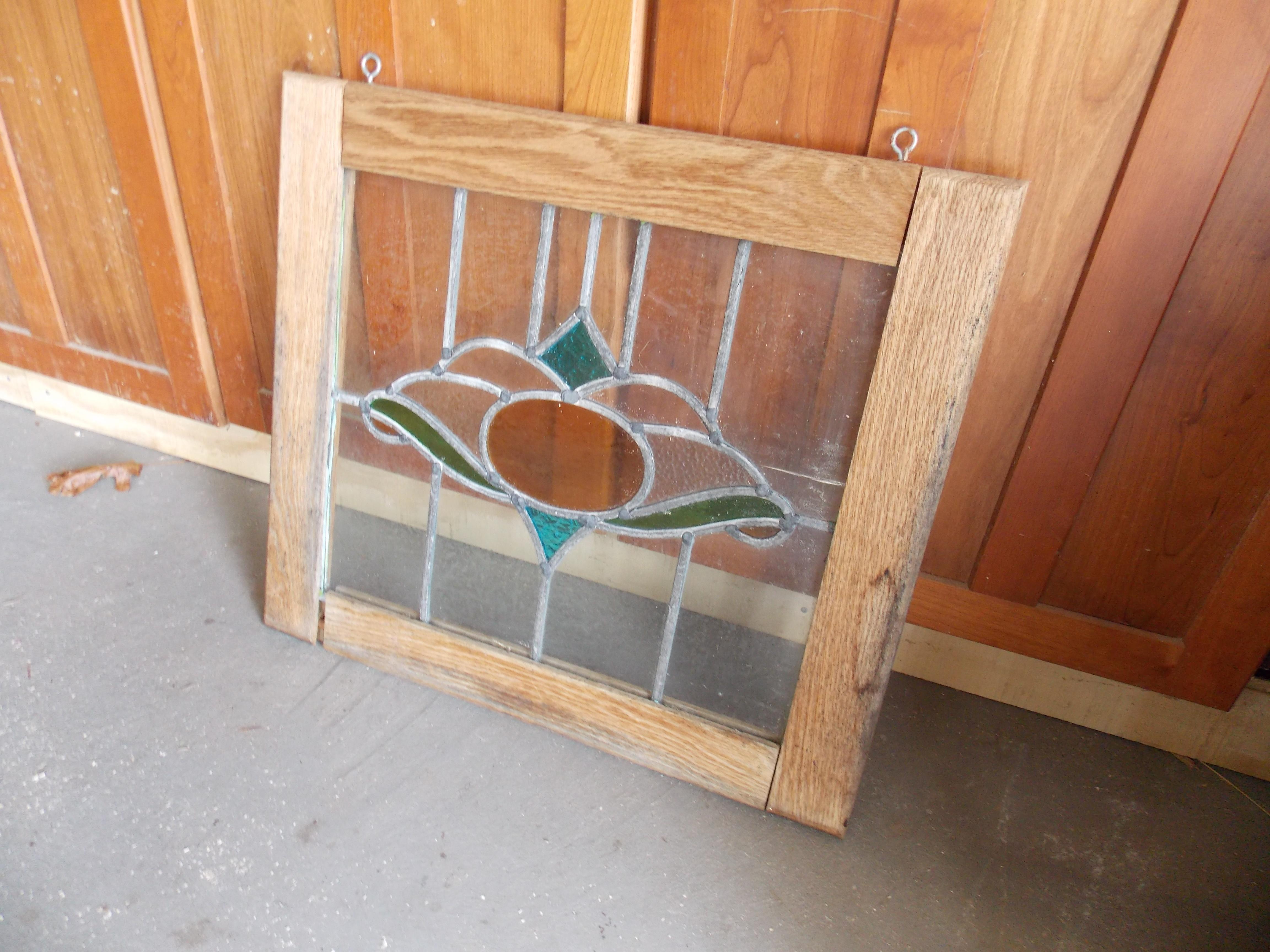 Oak-Framed Stained Glass Window Damaged by Sunlight & Rain