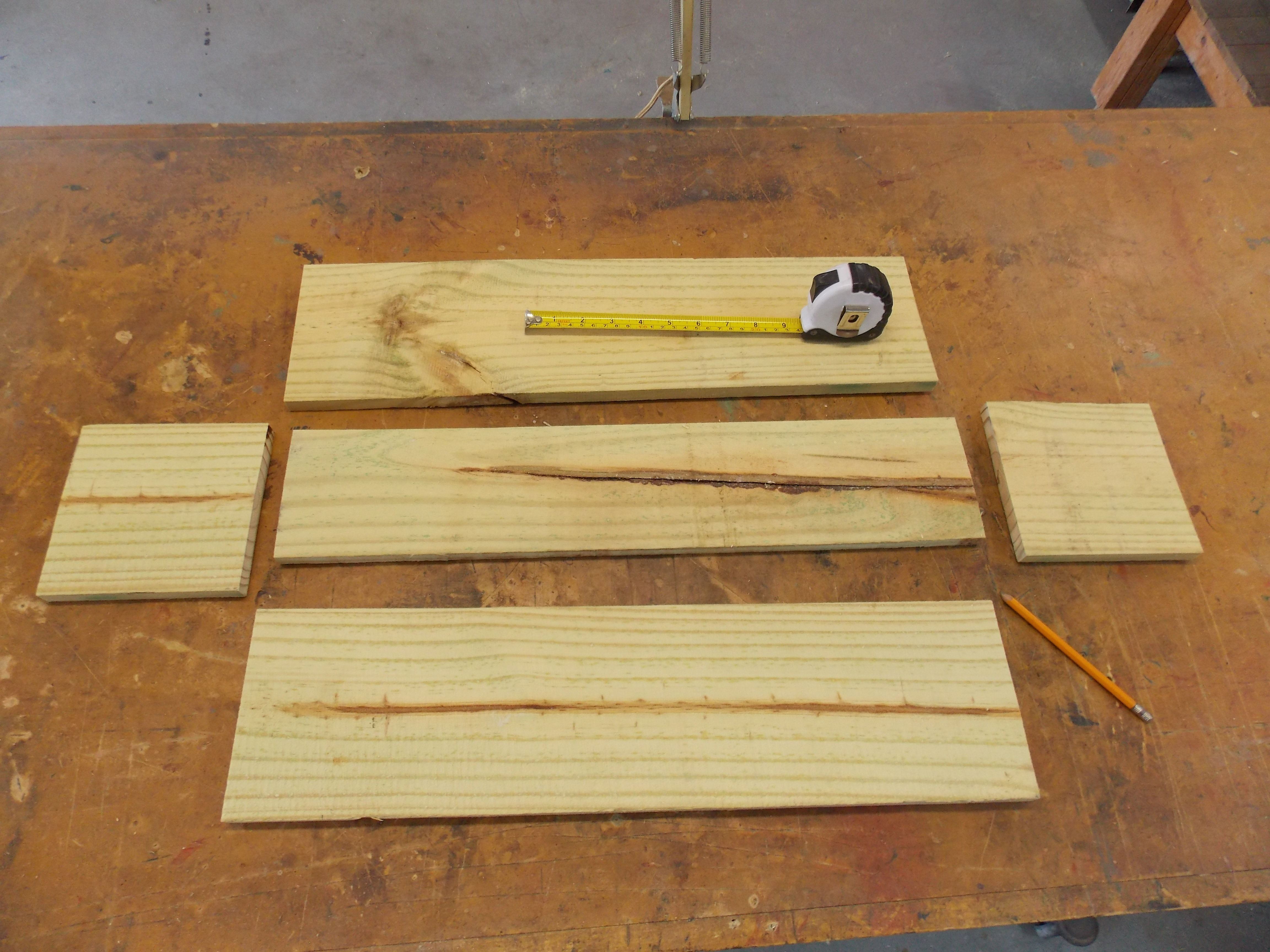 Cut Pressure-Treated Boards for Wooden Planter