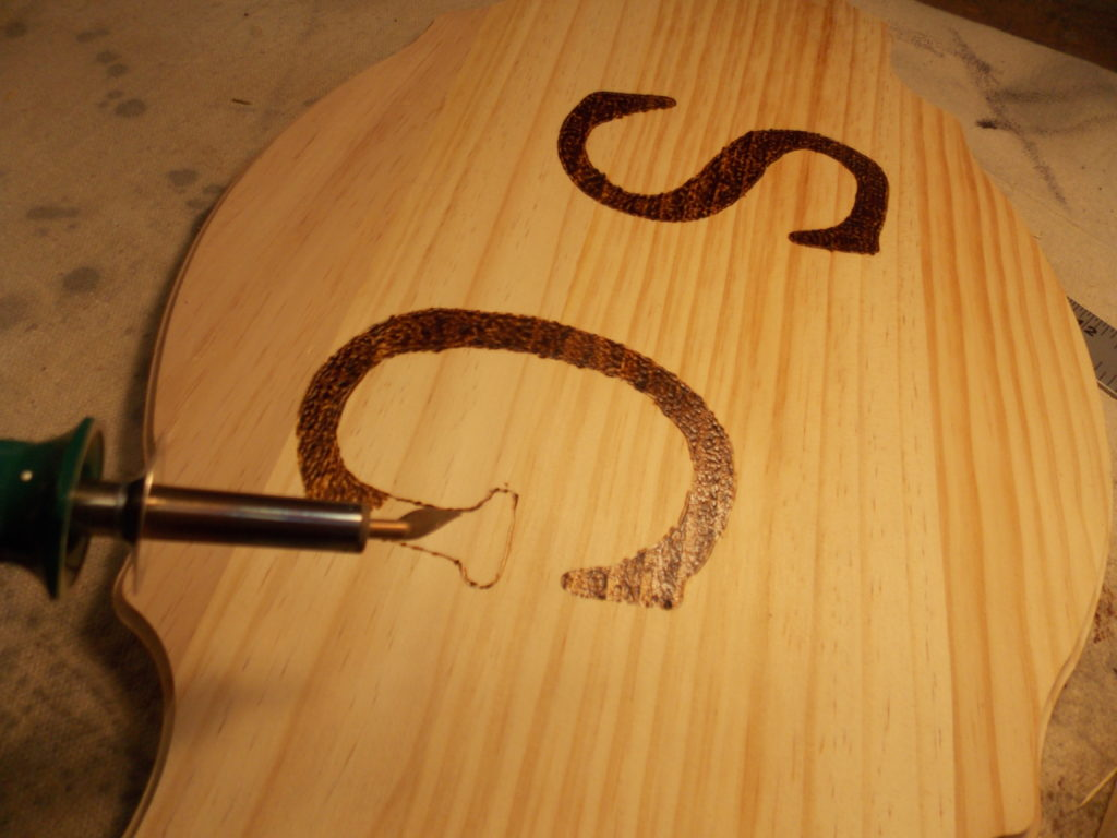 Using a Wood Burning Tool to Decorate a Serving Tray
