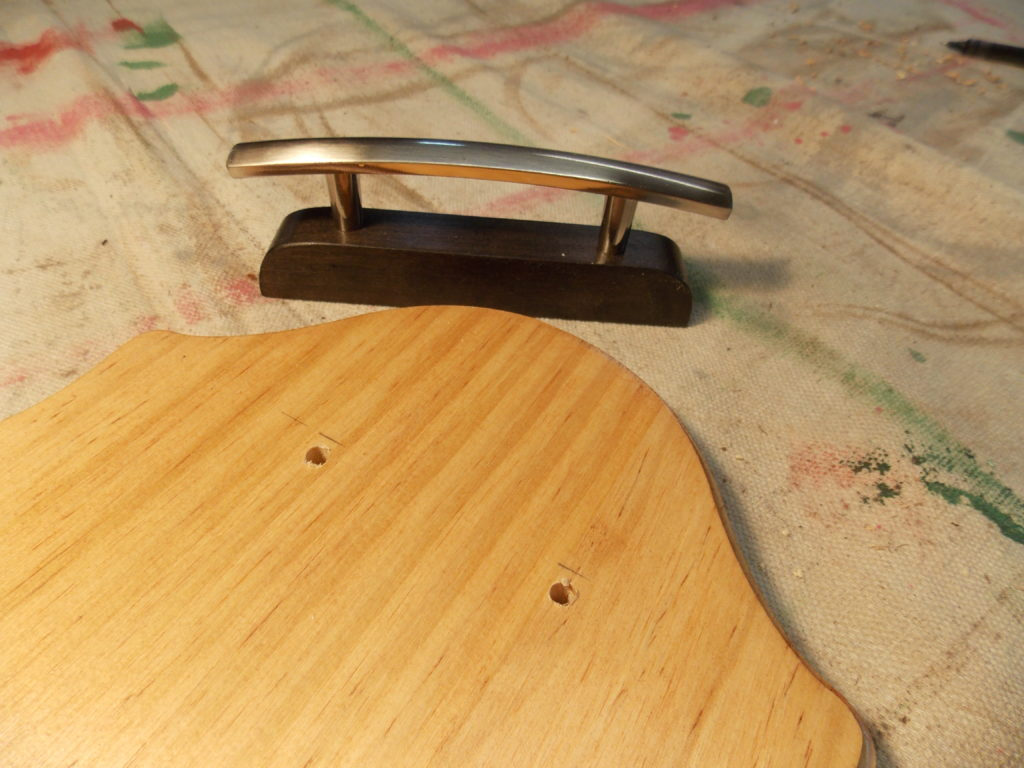 Attach Chrome Handle to Decorative Tray