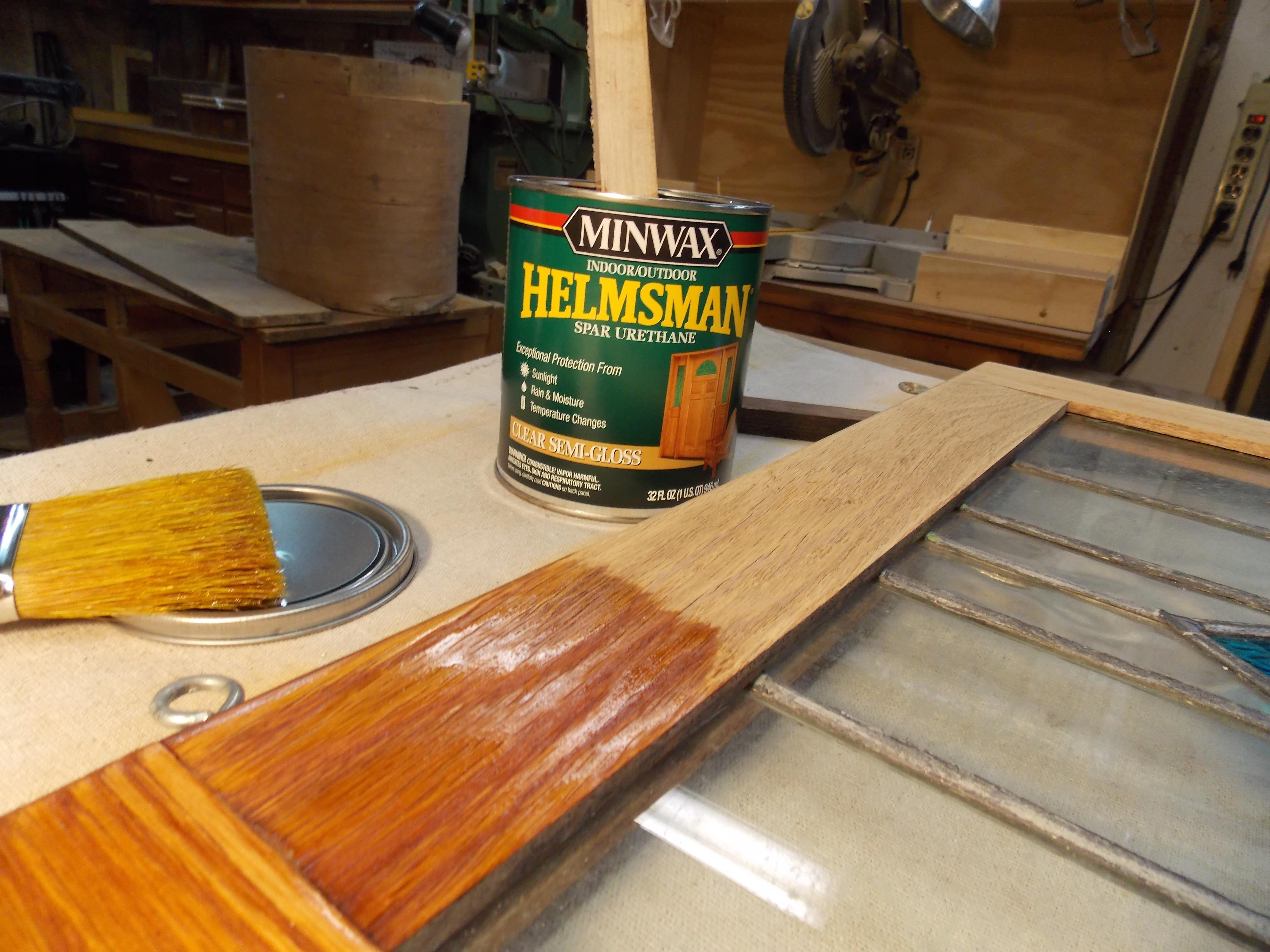 Apply Minwax Helmsman Indoor/Outdoor Spar Urethane