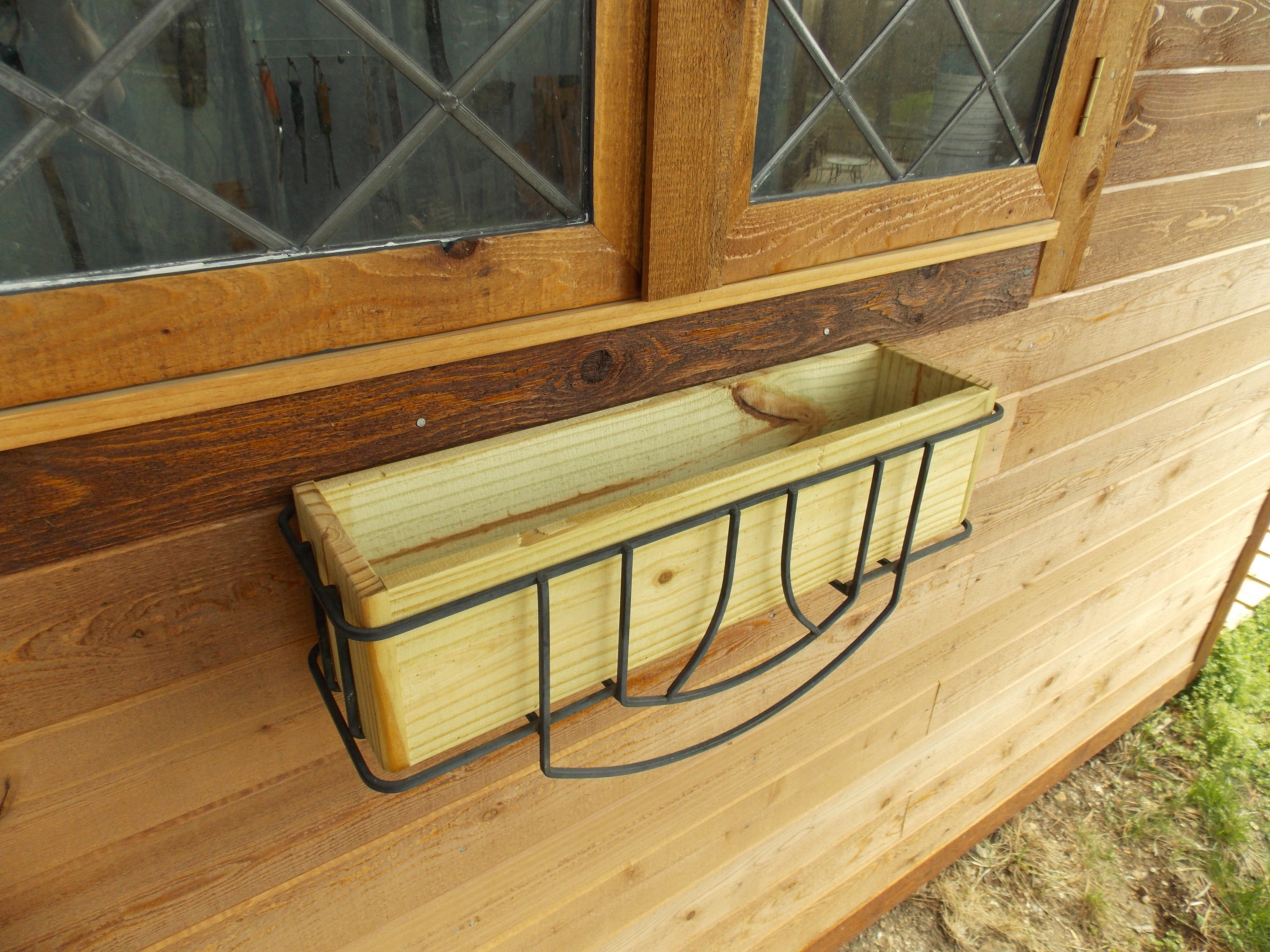 Wooden Planter Box with Durable Outdoor Finish