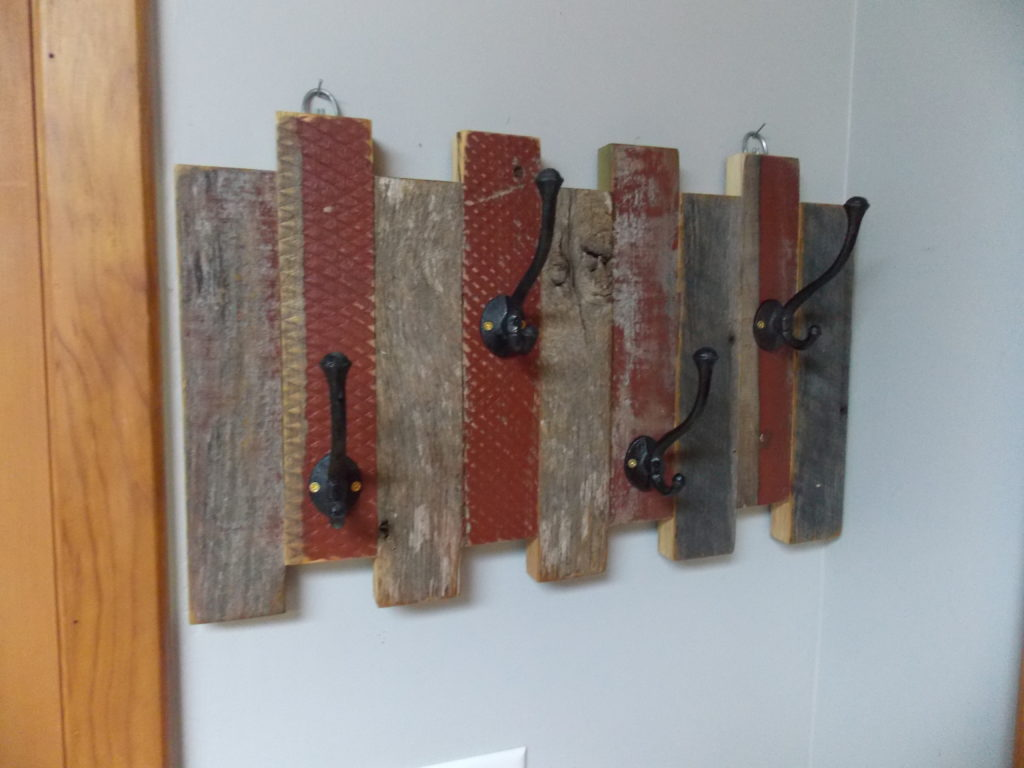 Coat Rack Made from Reclaimed Wood