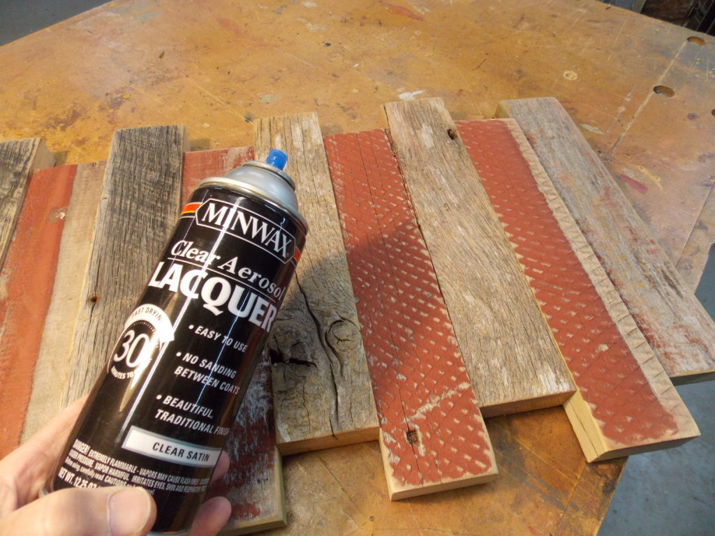 Spray a Coat of Minwax Clear Aerosol Lacquer for Protection