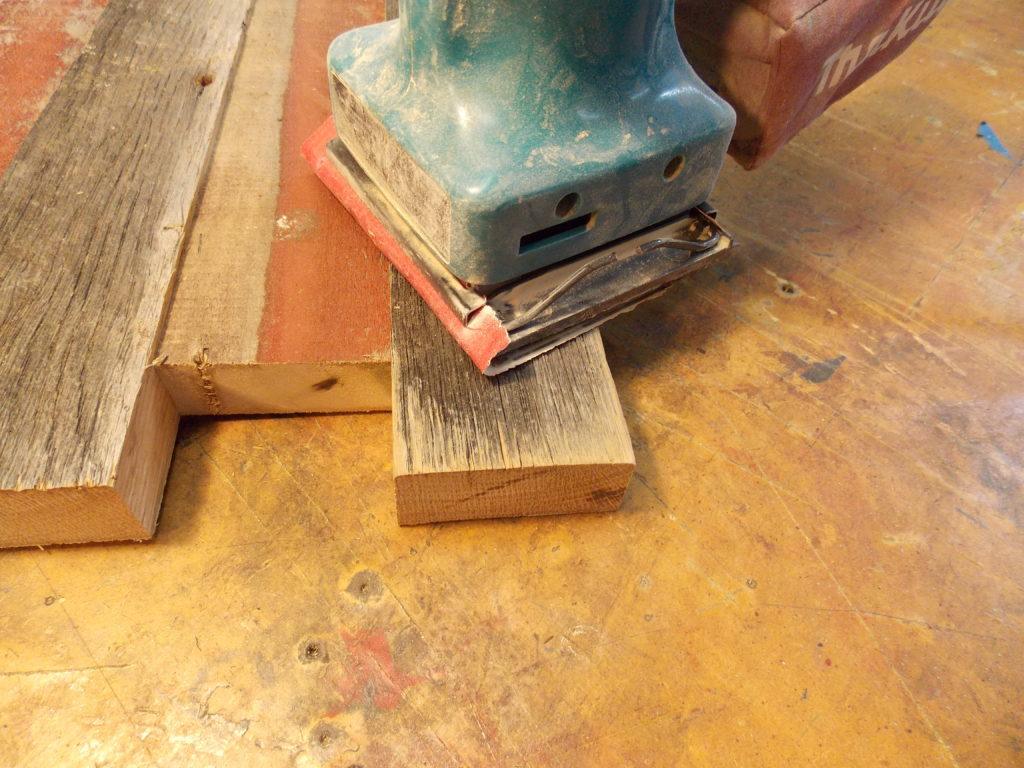 Glue Barnboards Together & Sand Edges