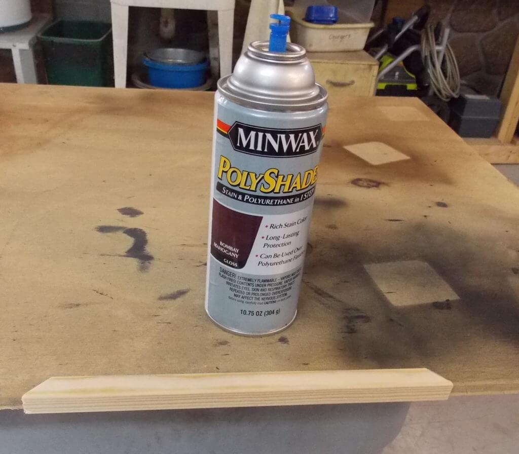Applying stain and polyurethane in one step with Minwax Polyshades