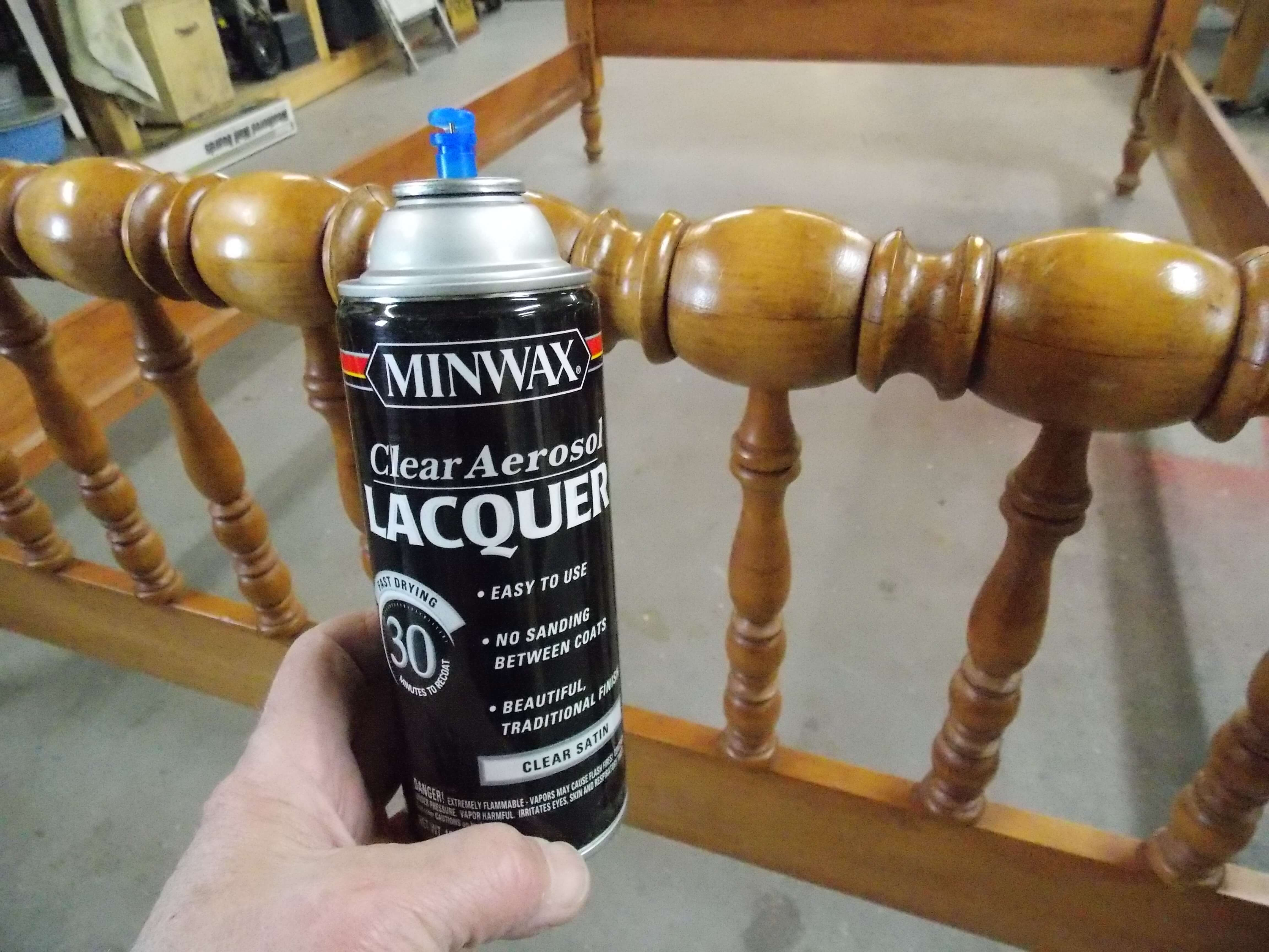 Using Minwax Clear Aerosol Lacquer for easy finish application