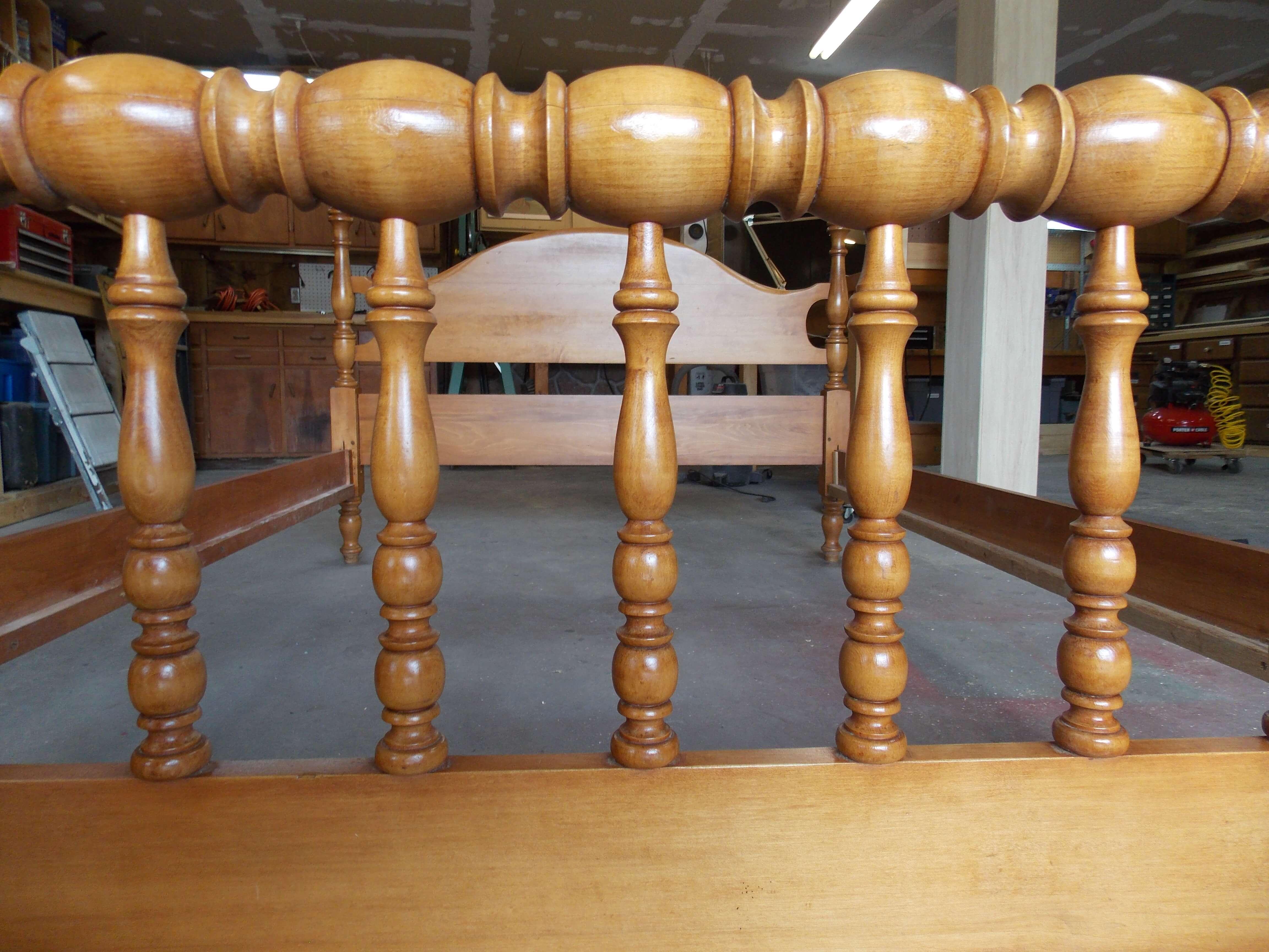 Final refurbished wood bedframe