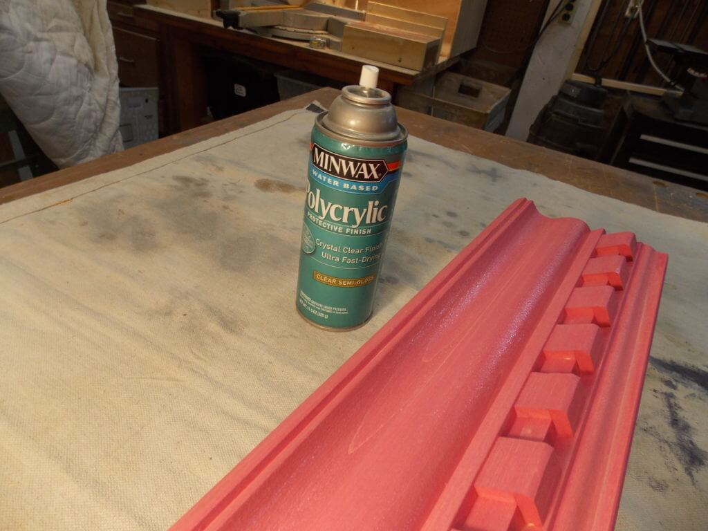Minwax Polycrylic Water Based Protective Finish Alongside Stain Wood Molding