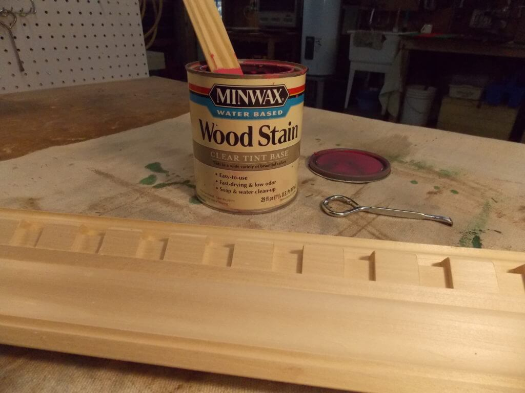 Unfinished Wood Molding with Minwax Water Based Wood Stain