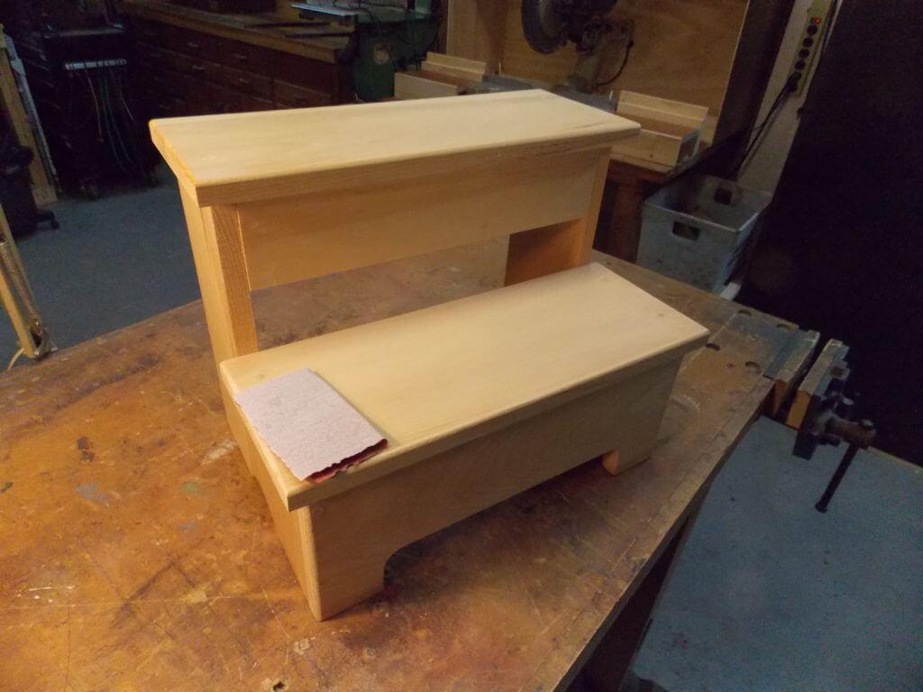 Unfinished Wood Step Stool