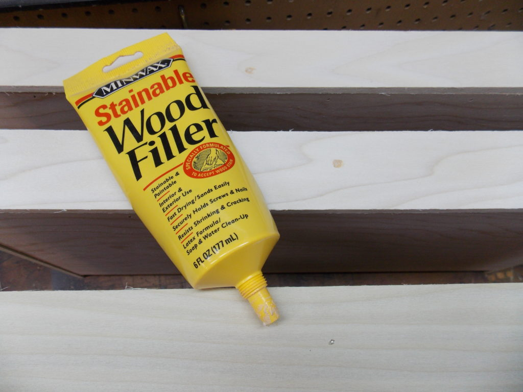 Use Minwax Stainable Wood Filler to Fill Shallow Holes