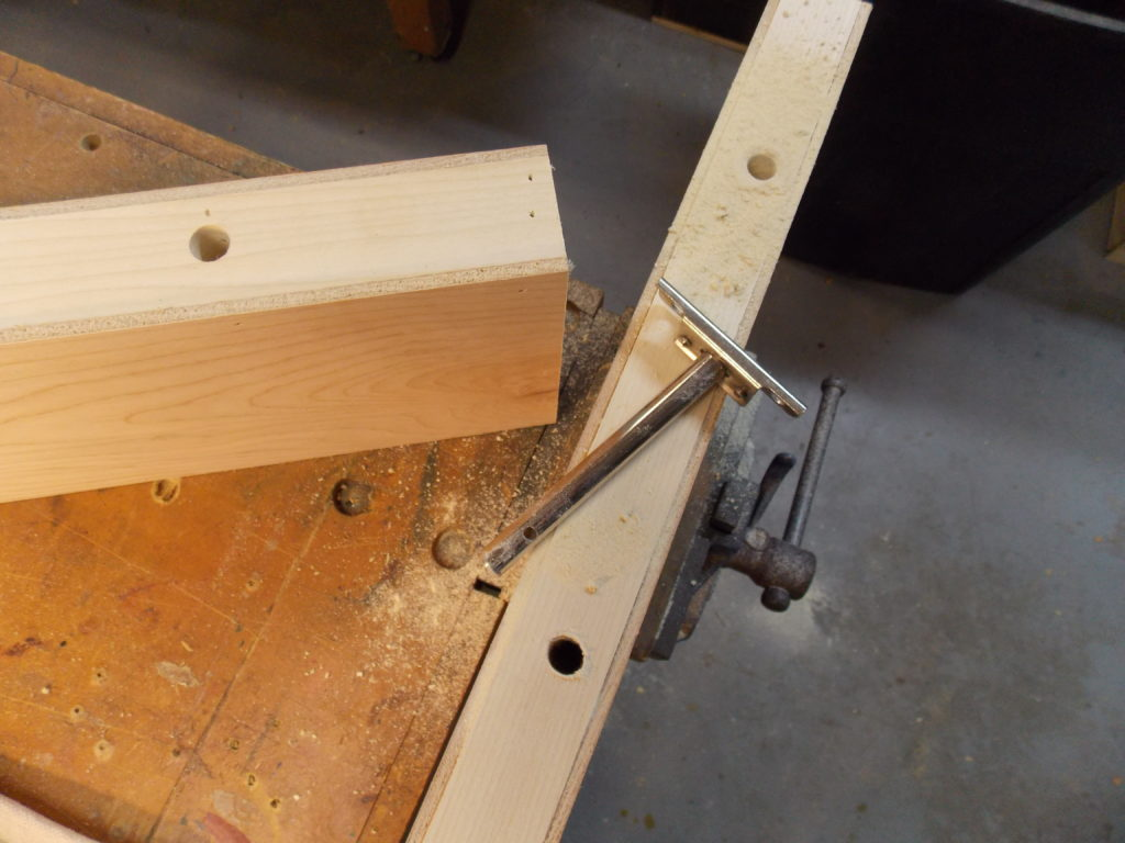 Drilled Holes for Wall Brackets in Floating Shelves