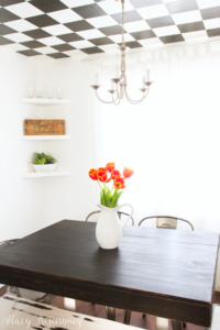 DIY Homemade Tabletop Stained with Minwax Weathered Oak