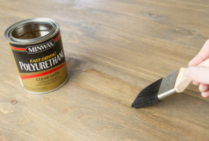 Applying Minwax Polyurethane with a Purdy Ox Hair Brush