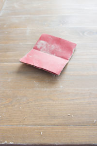 Sandpaper Used for DIY Tabletop