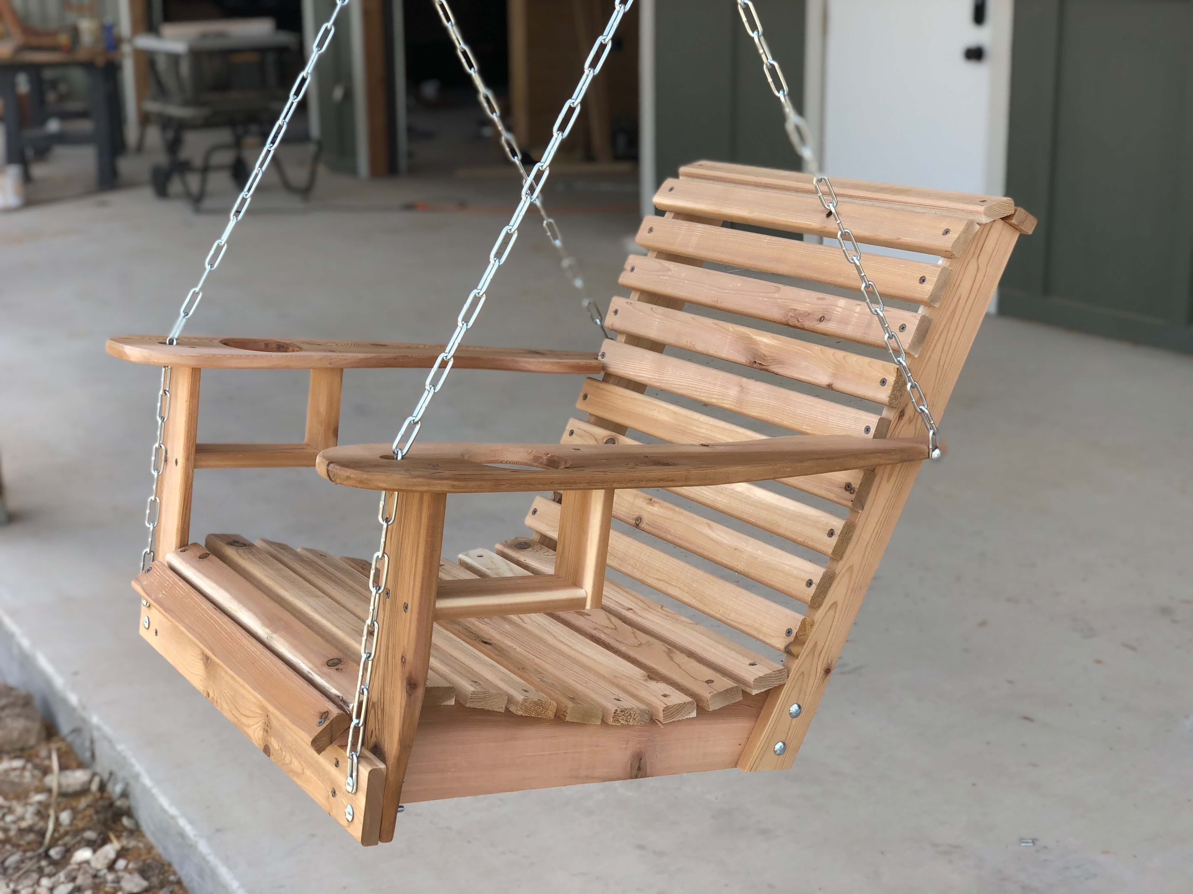 Helmsman finished porch swing by April Wilkerson